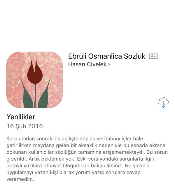 Ebruli Osmanlıca Sözlük Güncellendi